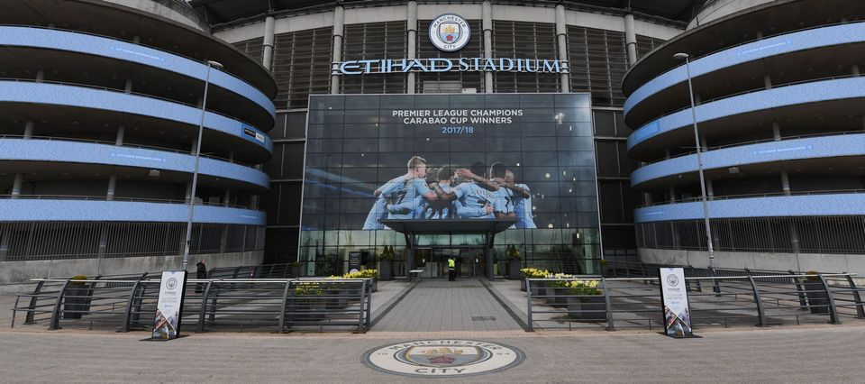 outside etihad stadium april 2018